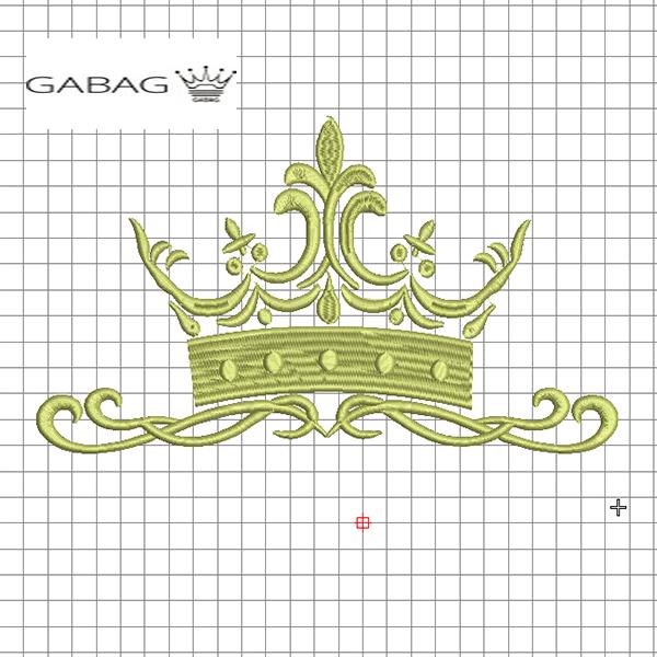 Дизайн вышивки корона №1